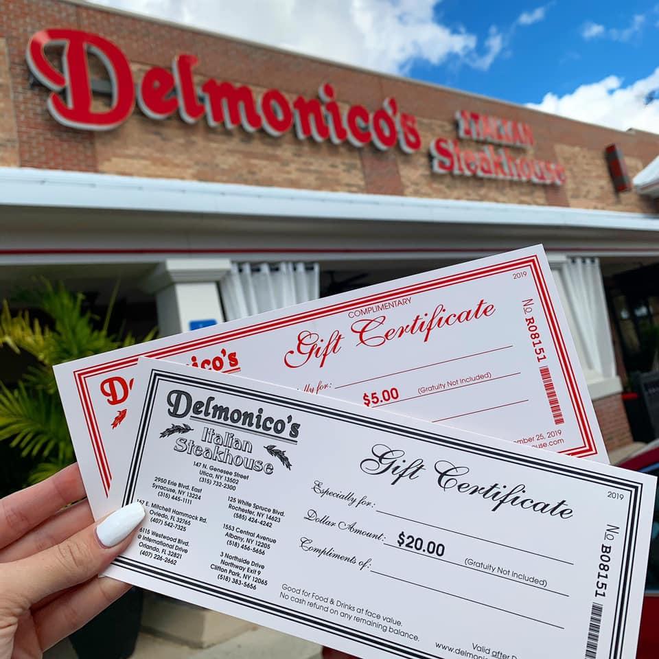 Delmonico's Gift Cards